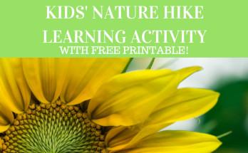kid's nature hike