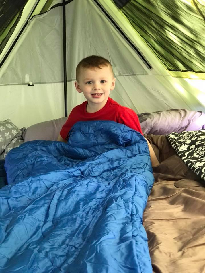 camping with a toddler tent