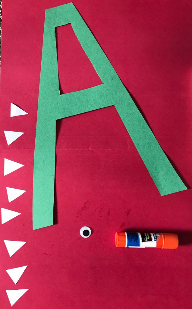 preschool, prek, letter A, alphabet, letters, craft