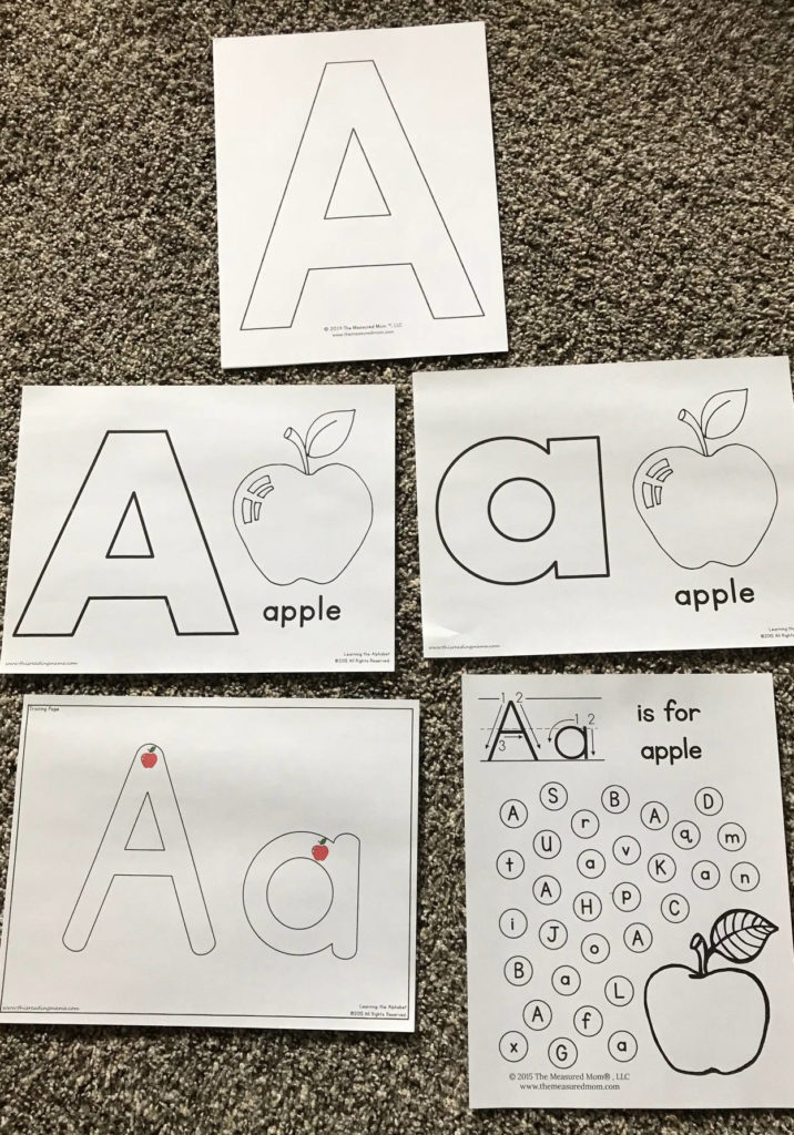 preschool, homeschool, prek, learning, alphabet, letter A, resources, books, themes, crafts
